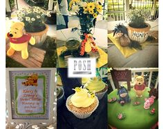 Posh Winnie the Pooh baby shower in the park
