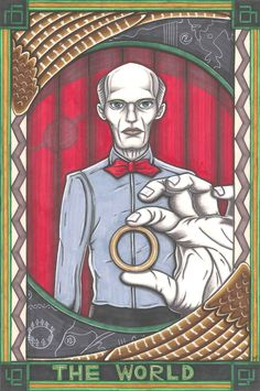 Twin Peaks Tarot The Giant postcard PRINT. £1.89, via Etsy.