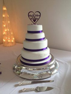 Cadburys purple wedding cake - by Joscupcakes86 @ CakesDecor.com - cake decorating website