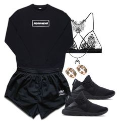 """""""Untitled #366"""" by chandele ❤ liked on Polyvore featuring Fleur of England, Bazar-14, Y-3, adidas and Cartier"""
