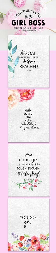 Get powerful quotes for the lady boss! These free girl boss quotes will inspire you to move towards your dreams! Click to get your copy!