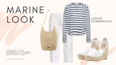 Wie man die Farbe Weiss im Sommer 2020 trägt, zeige ich dir im Lookbook, das ich für dich erstellt habe. Marine Look, Trends, Boho, Espadrilles, Stylish, Jeans, Fashion, Spirit, Photo Library
