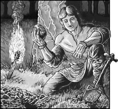 New up today for your small press publishing needs: A young man making a mysterious discovery in the forest. Is it a meteor, a gem in the rough, or something... worse? Yours to explore for $4.00, and perfect for any fantasy game!  http://www.rpgnow.com/product/130273/CAC296ForestDiscover
