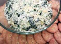 Spinach Artichoke Dip recipe. Great appetizer for Thanksgiving.