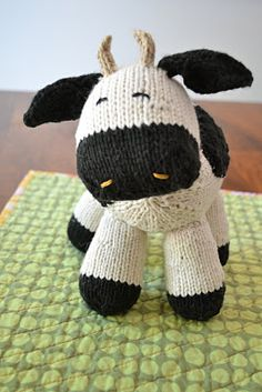 My Milk Cow design for Knit Circus! The pattern is now up in my Ravelry Pattern Store:) by Susan B Anderson