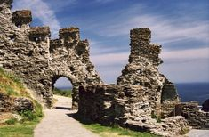 Tintagel Castle, Cornwall, England. Believed to be the birthplace of King Arthur.