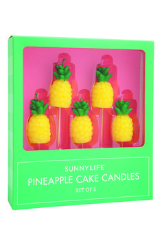 Don't take yourself too seriously by taking your birthday celebrations to the next level with this Set of Five Pineapple Cake Candles