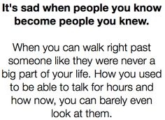 people you knew