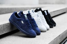 Puma Suede Classics Collection. The iconic silhouette in three classic colours.http://thesolesupplier.co.uk/closer-look/puma-suede-classics-collection/