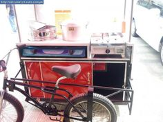 bicycle sidecar food cart