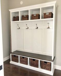 THE PENNSYLVANIA 4 section Entryway bench with storage/entryway furniture/coat rack/hall tree/mudroom/mudroom bench/shoe/coat/storage Entryway Bench Storage, Entry Bench, Bench Mudroom, Shoe Bench, Porch Bench With Storage, Mudroom Cubbies, Wall Storage, Storage Spaces, Hall Tree Bench