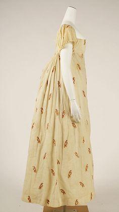 Dress  Date: ca. 1810 Culture: American Medium: cotton, wool