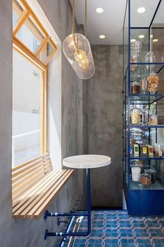 Small Bar Layout - Interior Design Ideas & Home Decorating Inspiration - moercar Restaurant Interior Design, Luxury Interior, Modern Interior Design, Luxury Restaurant, Vintage Restaurant, Industrial Restaurant, Diy Floor Lamp, Modern Floor Lamps, Design Commercial