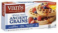 Van's Natural Foods - Gluten Free Waffles Ancient Grains Original -      Packed with 32g nutrient-rich whole grains and 6g fiber, these gluten free ancient grains waffles might just be our best creation yet!