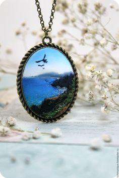 Купить Морской пейзаж, горы, чайки. город Магадан - синий, море, чайки, чайка, магадан