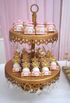 Princess Birthday Party treats!  See more party planning ideas at CatchMyParty.com!