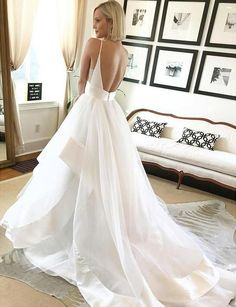 Beautiful Ball Gown V Neck Spaghetti Straps Backless Long Wedding Dresses with Train Beautiful Wedding Dresses, Long Wedding Dresses, Wedding Dresses, Backless Wedding Dresses, Lace Wedding Dresses Wedding Dresses 2018 Western Wedding Dresses, Wedding Dresses 2018, White Wedding Dresses, Bridal Dresses, Prom Dresses, Court Dresses, Event Dresses, Beach Dresses, Dresses Uk