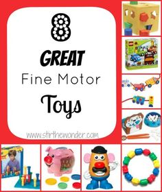 I am not an occupational therapist, but since my son has started occupational therapy over a month ago, I have seen many everyday toys used for therapy purposes. This is a list of fine motor toys that our occupational therapist … Continue reading → Occupational Therapy Activities, Motor Activities, Sensory Activities, Toddler Activities, Occupational Therapist, Ot Therapy, Therapy Tools, Pediatric Ot, Child Life