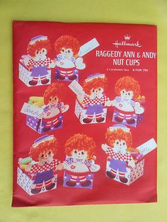 Raggedy Ann and Andy Nut Cups from Hallmark
