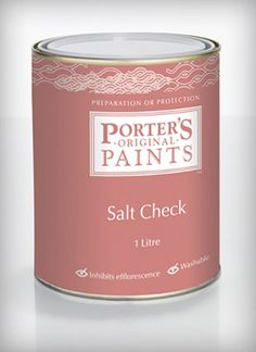 Porter's Salt Check inhibits efflorescence, a whitish salty powder, crust or crystal formed on the surface of a mortar or masonry that is subject to excess moisture. Salt Check is a water thinnable solvent-free emulsion that serves as a high quality general purpose water repellent for impregnating and priming mineral surfaces such as cement render, bricks, concrete, sandstone and mineral plasters. Cement Render, Bricks, Mineral, Concrete, Purpose, Moisturizer, Powder, Salt, Surface