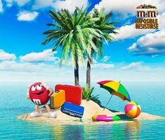M&M's Chile - El fin de semana es para descansar y tomar sol. ¿Crees que Rojo se derretirá ?