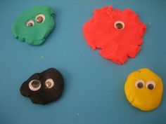 play dough monsters- probably would want more than just googly eyes available