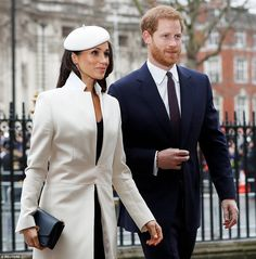 Meghan Markle and Prince Harry arrive at Westminster Abbey in London for the Commonwealth Day service this afternoon
