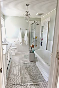 Diy Master Bathroom With White Subway Tile And Tall Shower Niche Www Goldenboysandme
