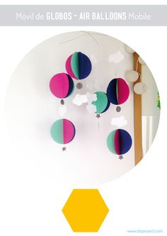 DIY móvil de globos_DIY air balloons mobile