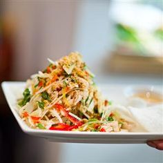 Pho's Vietnamese Chicken Salad recipe. This Vietnamese chicken salad recipe is a popular choice at Pho's café-style London and Brighton restaurants. The fresh, spicy flavours are pure Asian.