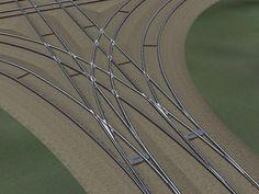 Straßenbahn-Rillenschiene Meterspur mit animierten Weichen ab EEP 8.3