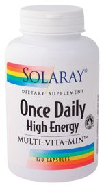 Once Daily High Energy Multi-Vitamin by Solaray-I have taken this for over 5 months and it keep me up. The Best