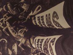 Getting in the zone #skatezone #rollerderby #sockswag by acadianarollergirls