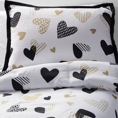 Image result for target bedding black with gold hearts