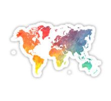 Map of the world colored Sticker