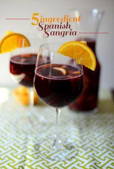 5 Ingredient Spanish Sangria   via minimalist baker