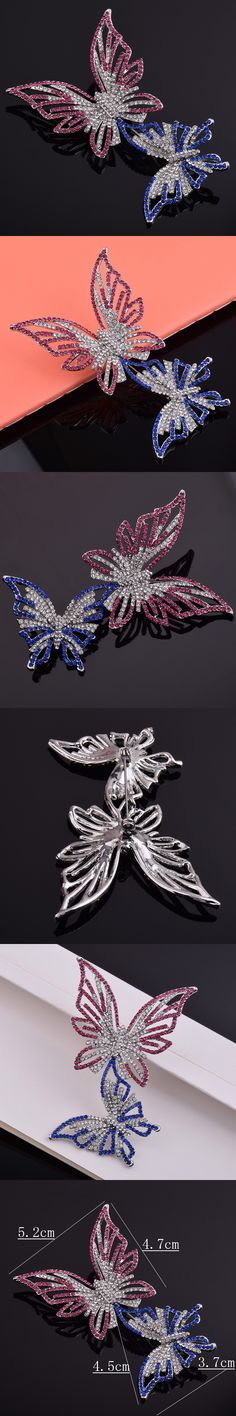 [BFQ]Butterfly Brooches For Women 2017 Insect Brooch Jewelry Pines Metalicos Zinc Alloy Big Brooches As Gifts For Female