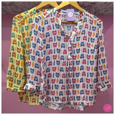 """Voltando com as lindezas do preview de primavera/verão16, que tal essa camisa de kombis e pranchas com aquele """"ar"""" gostoso de férias? #Vemprazas"""