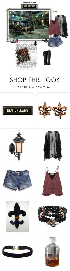 """""""French Quarter, New Orleans  (The Originals)"""" by greerflower ❤ liked on Polyvore featuring Renoir, Volume Lighting, Anna & Boy, Apiece Apart and Naturalizer"""