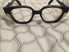 1950s Vtg Black Horn Rim Safety Glasses Motorcycle Eyeglasses Rockabilly Plastic #ESE #HornRim