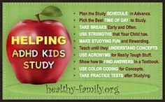 study tips for kids - ADHD