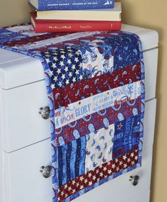 This patriotic table runner goes together in no time thanks to the quilt as you go method. Linda shows you how!