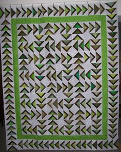 Spring Geese by Teresa Martinek  An original adaption of the traditional flying geese block.