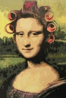 Mona Lisa ala curlers