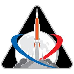 Hot off the heels of NASA's Anniversary Logo Design, NASA has now revealed the Exploration logo patch and & mission identifier. The logo shows the Space Launch System (SLS) rocket carrying the Orion spacecraft. Artemis, Astronauts On The Moon, Orion Spacecraft, Space Launch System, Lunar Lander, Man On The Moon, Deep Space, Space Travel, Space Exploration