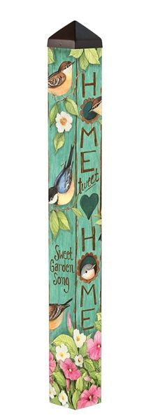 """This is a wider-than-normal 4' Peace Pole made in the USA! -Wider than most of the other poles at 5"""""""" x 5"""""""" square-Long-lasting and maintenance free. -Made of strong, lightweight PVC to reduce shippin"""