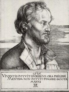 Albrecht Dürer, Phillip Melanchton (1526, Brooklyn Museum, New York)