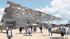 Plans for the replacement of Sydney& fish markets have been named Future Project of the Year 2017 at the World Architecture Festival awards. Berlin, World Architecture Festival, Big Design, Dezeen, Plaza, Sydney, Awards, Exterior, Australia