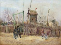 Vincent Van Gogh, Van Gogh Museum, Rue Montmartre, Van Gogh Pinturas, Van Gogh Landscapes, Rare Vans, Paris Painting, Van Gogh Paintings, Colossal Art