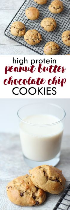 These dairy free and gluten free High Protein Peanut Butter Chocolate Chip Cookies are the perfect healthy treat! Made with simple ingredients and ready in 15 minutes. // Lean, Clean, & Brie